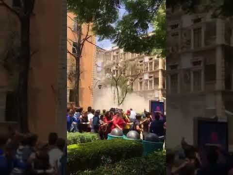 Derrumbe de los puentes dentro de Campus Ciudad de México del TEC
