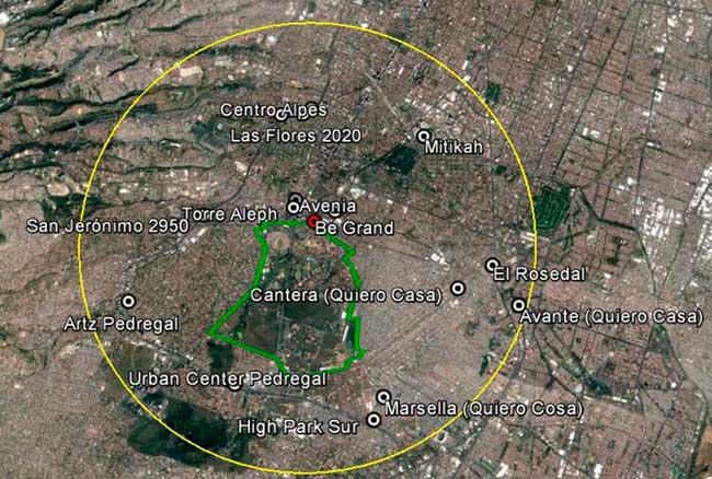 Desarrollos habitacionales cerca de CU