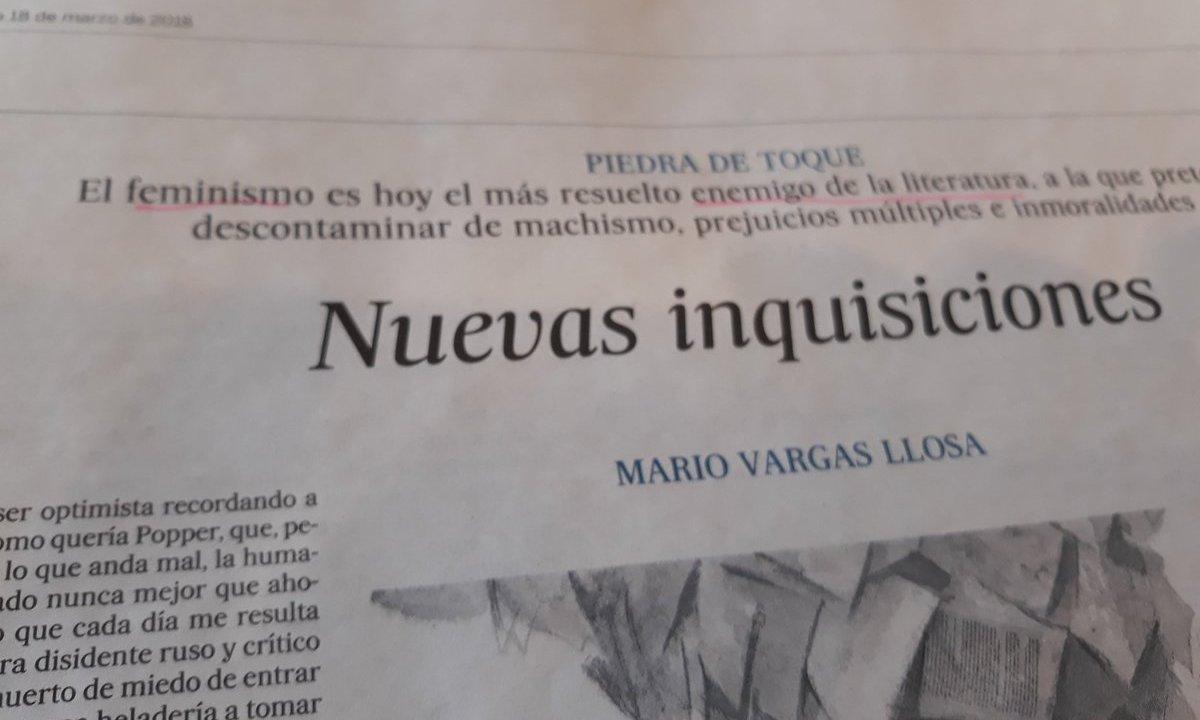 MArio Vargas Llosa feminismo AMLO periodistas