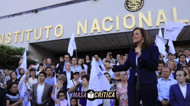 Margarita Zavala registra su candidatura ante el INE