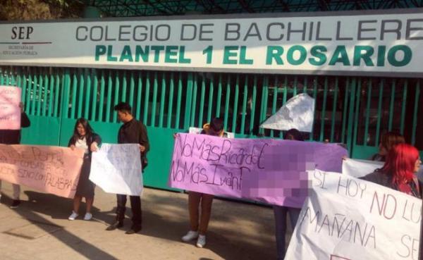 Alumnos de Bachilleres El Rosario denuncian agresión a compañera