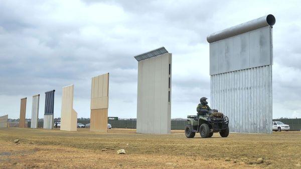 Trump visitó prototipos del muro, aunque no haya presupuesto