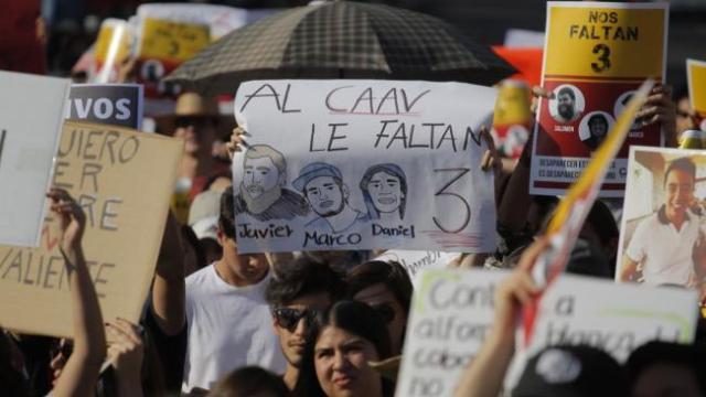estudiantes desaparecidos guadalajara jalisco marcha tonala