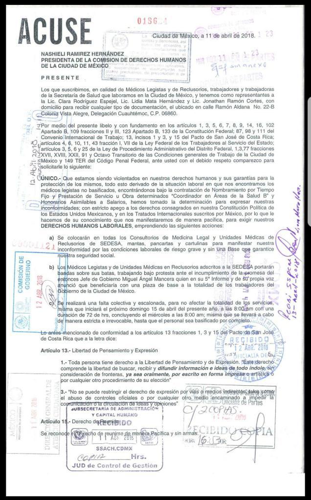 Observación de la CNDH respecto a amenazas a médicos