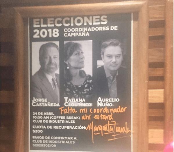Margarita Zavala pide apoyos 'de 20 pesos' porque rechazó dinero INE