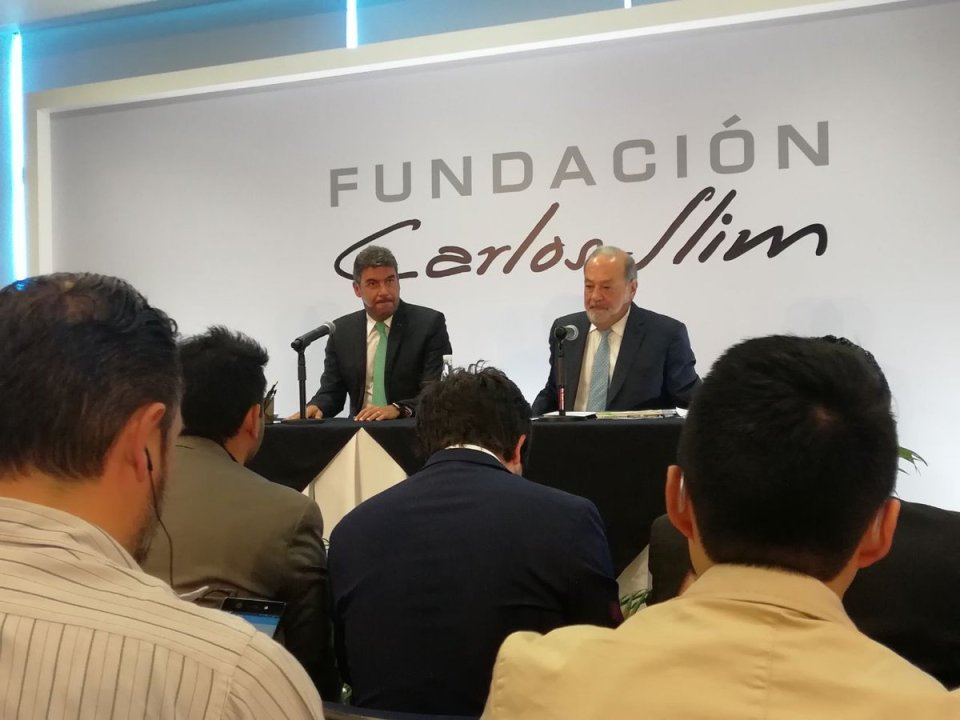 Carlos Slim AMLO NAICM Aeropuerto Conferencia