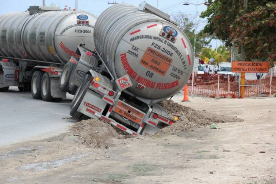 Accidentes de doble remolque en carretera de México
