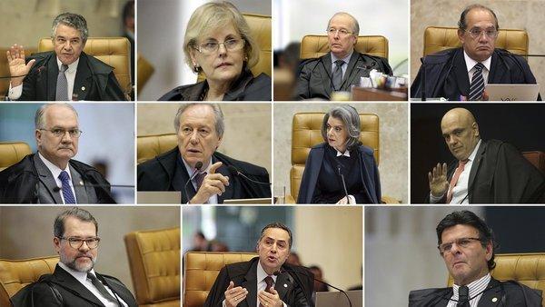 Jueces de la Suprema Corte que enjuiciaron a Lula