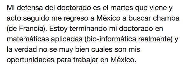Doctorado Extranjero Mexico Industria Empleo Trabajo