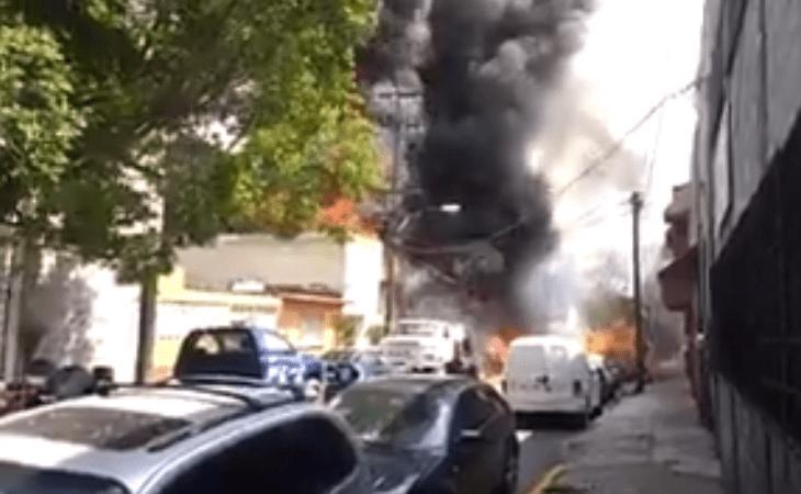 Fuerte incendio en San José de la Escalera