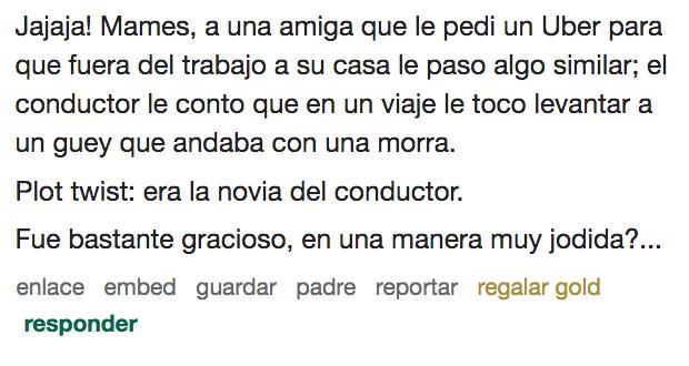 Historias Uber Extrañas raras Conductores Choferes México