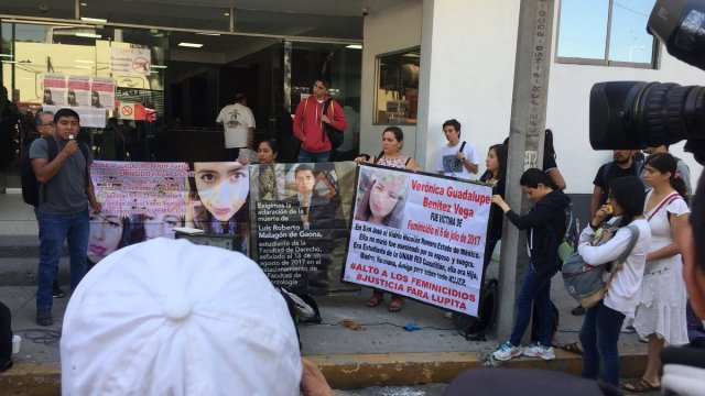 Familiares y colectivos exigen frente a PGJ-CDMX aparición de Marisela Vanessa
