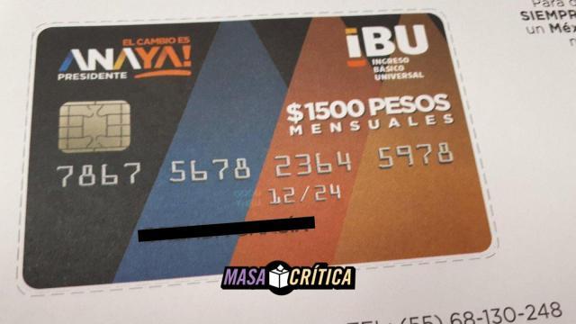 Campaña de Anaya reparte tarjeta de IBU