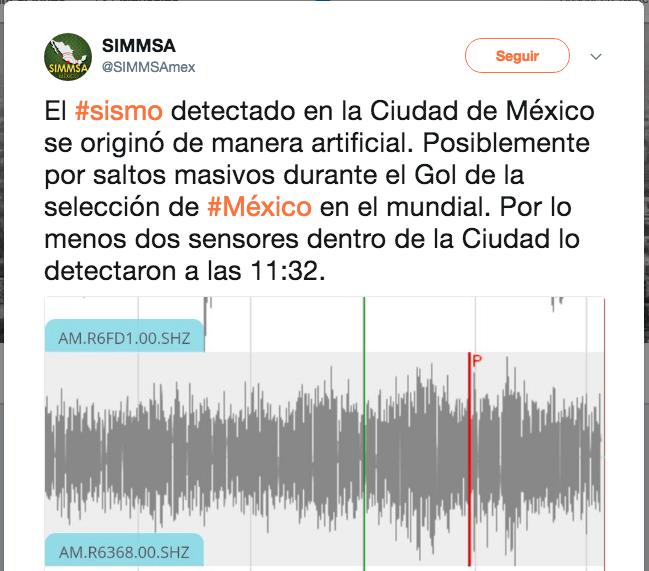 sismo artificial CDMX México Alemania Gol Fake News