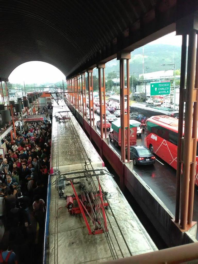 Lluvia Zaragoza CDMX Encharcamiento Oriente Metro