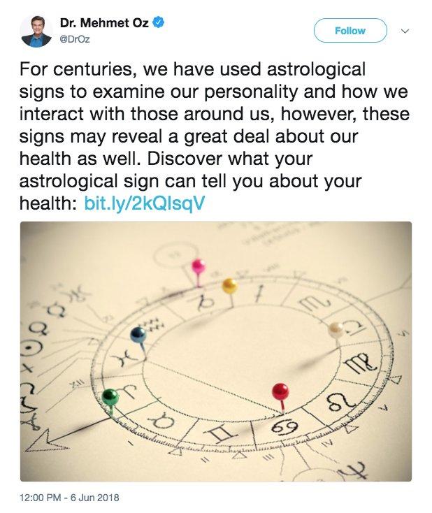 Asesor de Trumo en salud apoya astrología