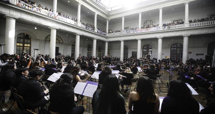 Concierto de orquesta feminista en paro por violencia machista
