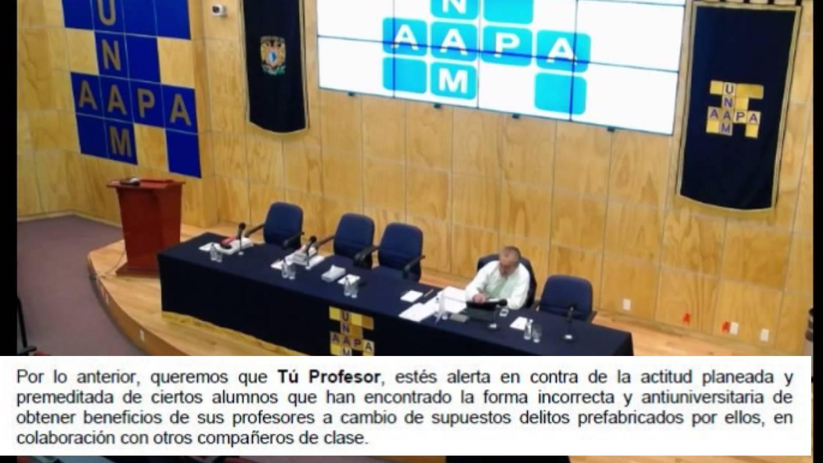 AAPAUNAM generaliza y criminaliza denuncias de acoso sexual en la UNAM