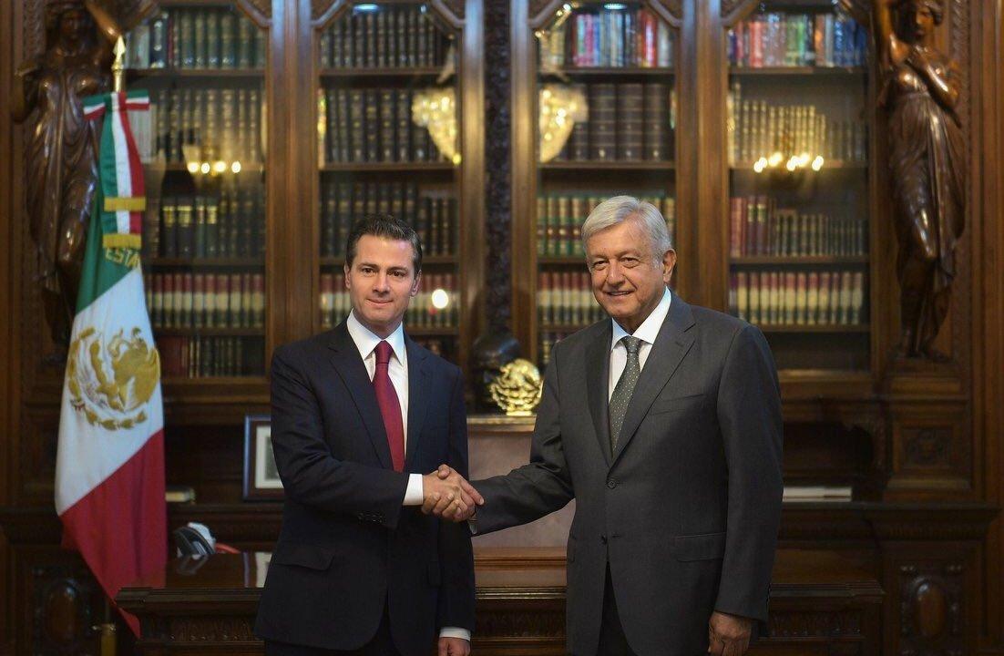 AMLO y EPN se reúnen en Palacio Nacional para revisar transición