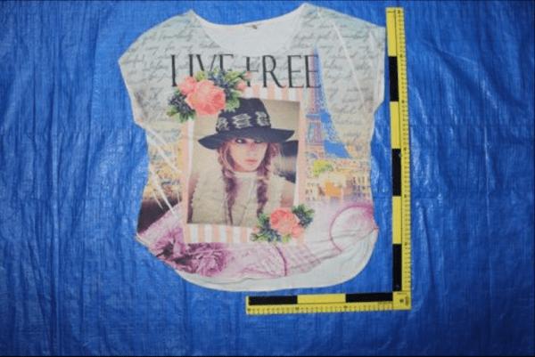 Fotografías de ropa encontrada en fosas clandestinas de Veracruz