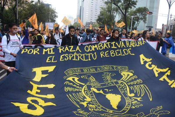 #MarchaDelSilencio Estudiantes UNAM 68 2018 CCH Azcapotzalco Marcha