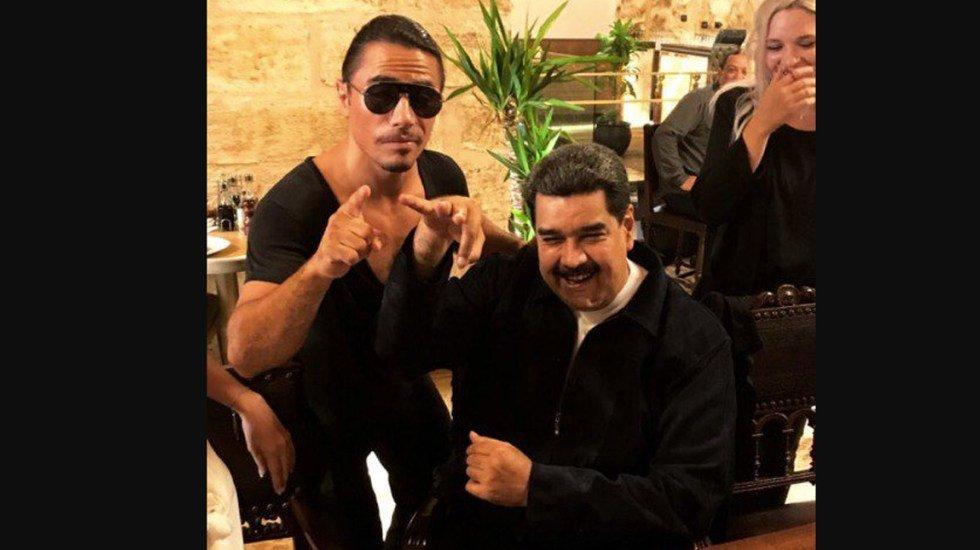 Venezuela en crisis, y Maduro cenando con Salt Bae