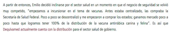 Dequivamed, Escalante Mendez, Vacunas, Rabia
