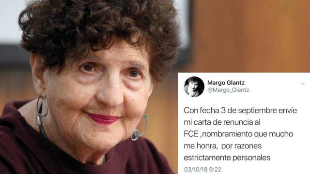 Margo Glantz declinó dirección del FCE