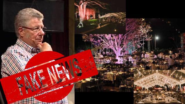 Alazraki publica fotos falsas de supuesta boda de hijo de AMLO