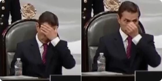 Peña Nieto durante discurso de toma de protesta de AMLO