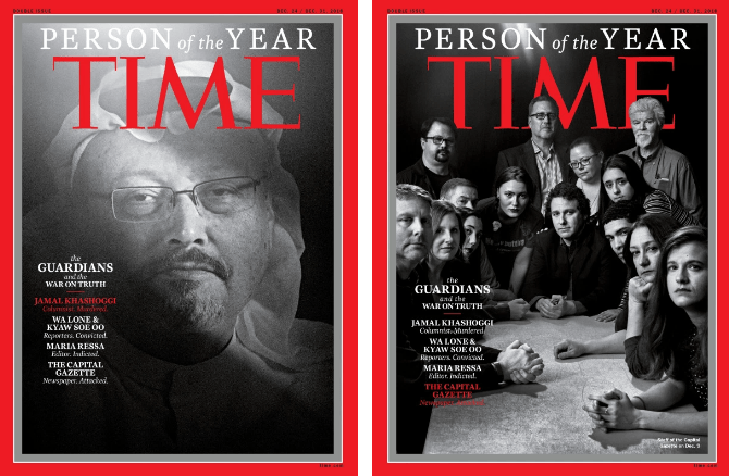Persona del Año, Revista Time, Periodistas