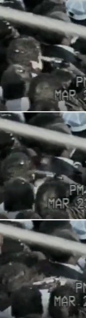 Capturas de pantalla del video del asesinato de Colosio