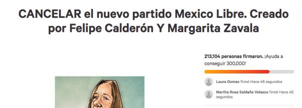 Petición para negar creación de partido a Zavala y Calderón