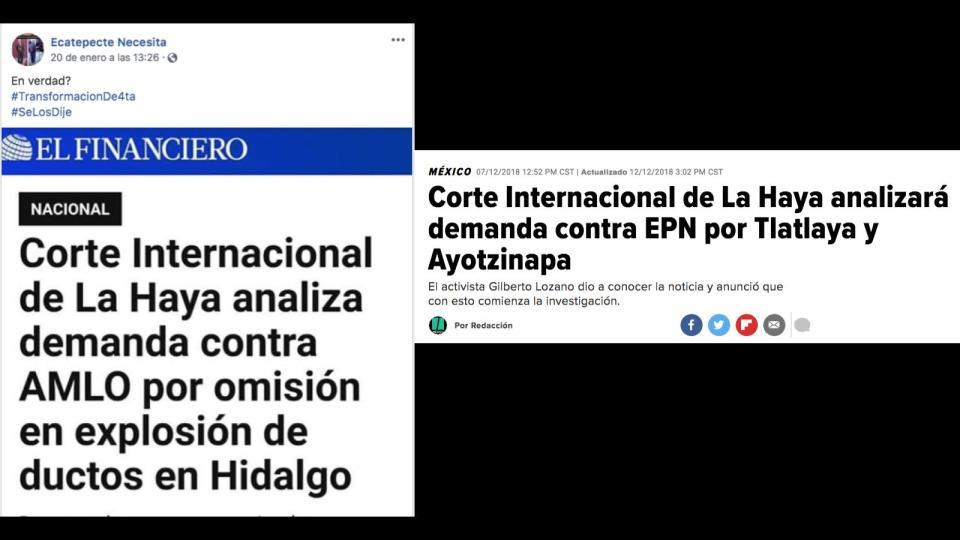 """Titulares alterados por """"Ecatepec te necesita"""""""