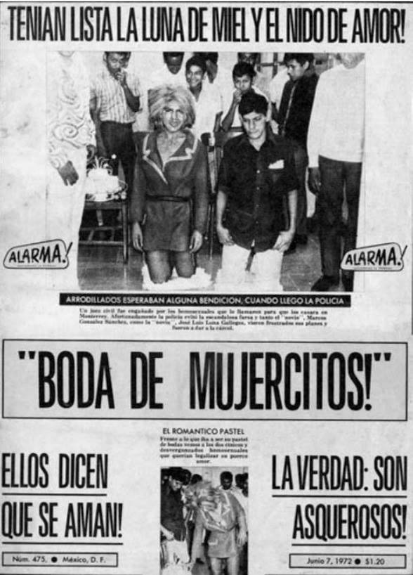 Homofobia, Historia, Prensa, Mexicana Alarma! Homofóbico