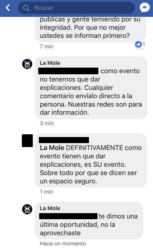 La Mole, Joe Azpeytia, Acoso, Abuso