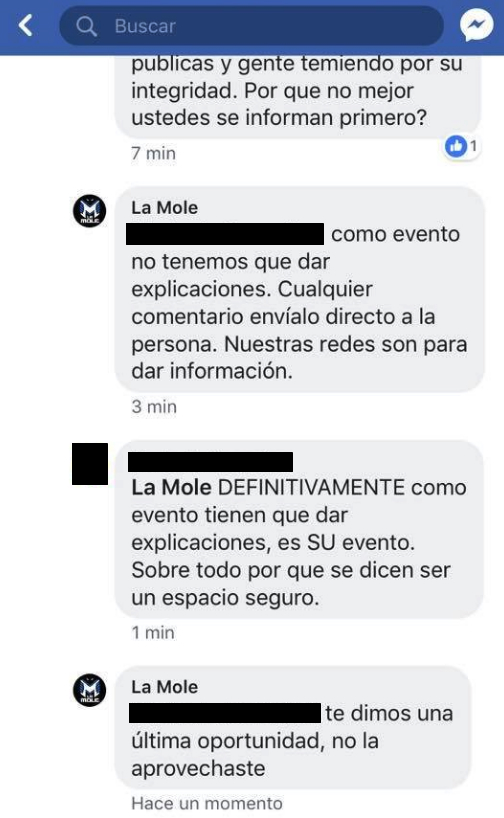 La Mole, Joe Azpeytia, Acoso, Abuso