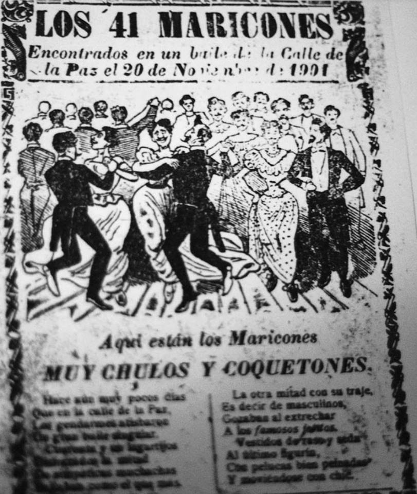Homofobia, Historia, Prensa, Mexicana Alarma! Los 41
