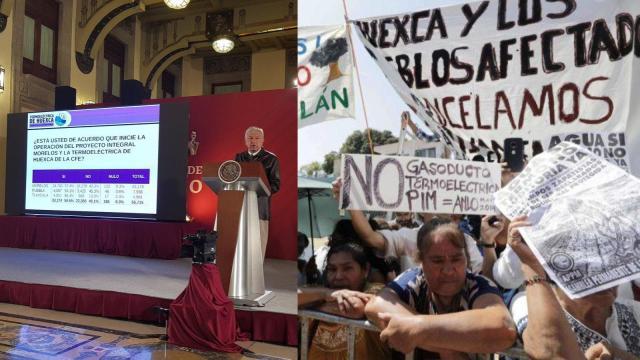 Gobierno: termoeléctrica va, pobladores de Huexca rechazan