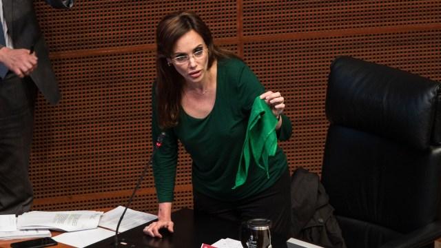 Lilly Téllez, en debate por aborto en el Senado