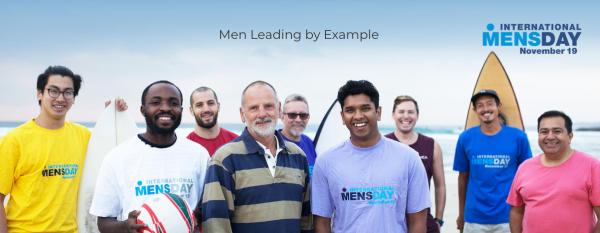 Foto de portada del sitio web del Día Internacional del Hombre