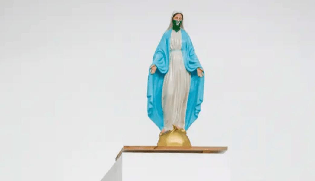 Virgen con pañuelo verde provoca indignación en Argentina