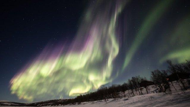 Finlandia, aurora boreal, naturaleza