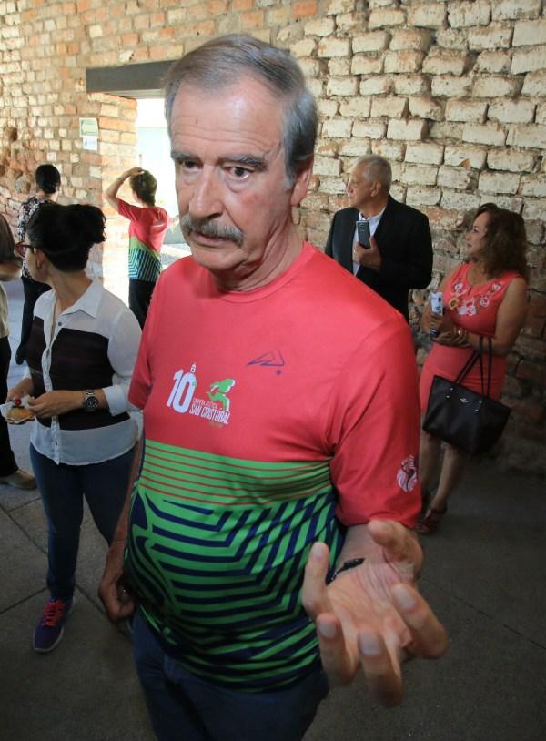 Vicente Fox, en Guanajuato, quejándose de que ya no tiene pensión