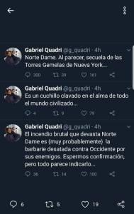 Gabriel Quadri, haciendo comentarios islamófobos como siempre