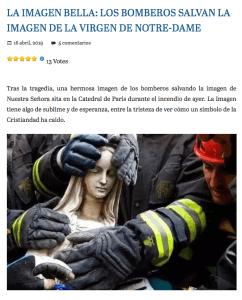 Medio descontextualiza imagen de virgen rescatada