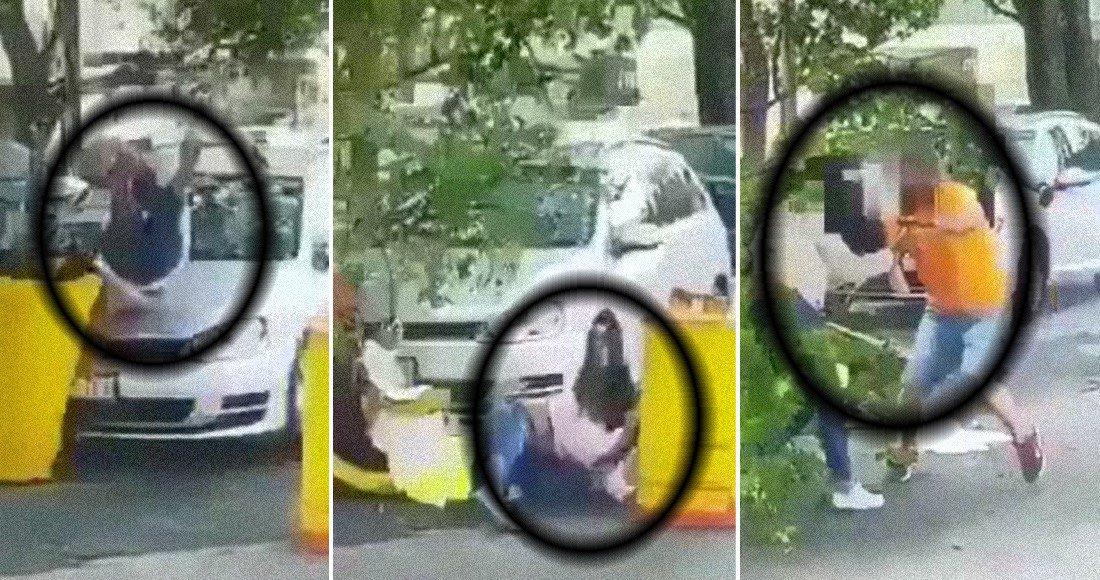 Mujer es asesinada por su esposo frente a Casa Jalisco