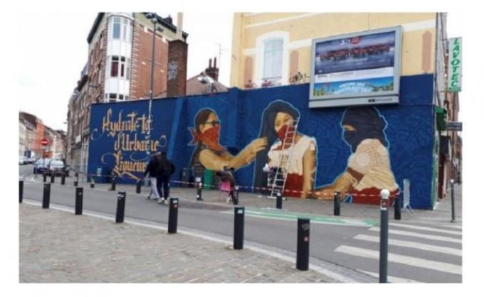 """Mural realizado por colectivo """"Tlacolulokos"""" fue censurado por policia francesa."""