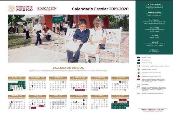 Nuevo calendario escolar 2019-2020 presentado por la SEP.