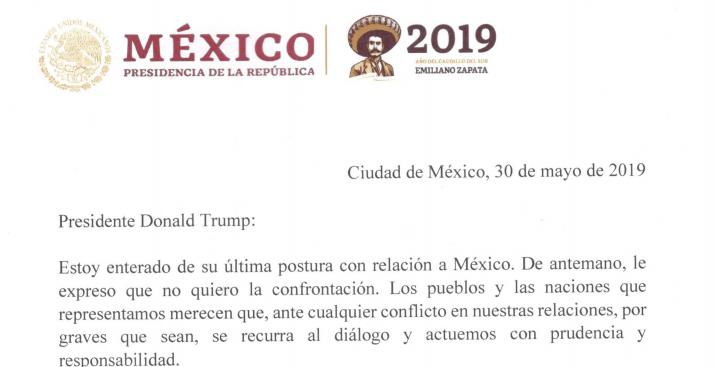 Carta a Donald Trump